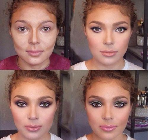 Если большой нос как уменьшить с помощью макияжа